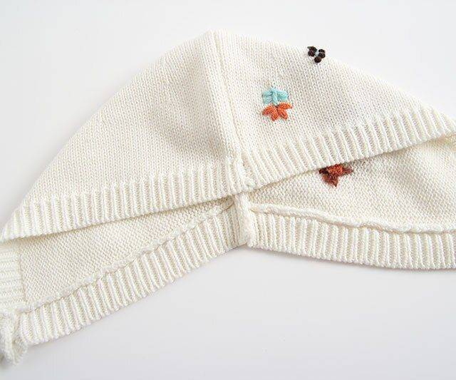 Baby Bodysuit Long Sleeve Autumn Winter New Embroidered Knitwear Toddler Bodysuit+Cap Triangle pants Baby Girl Clothes Baby