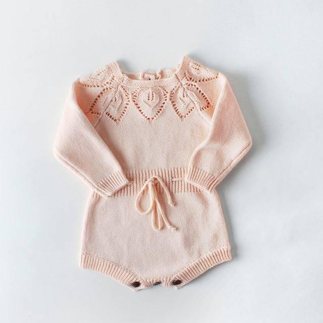 Sophie Romper Knit - Pink