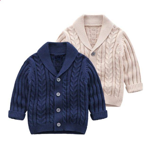IYEAL Boys Cardigan Sweater 2019 New Fashion Children Coat Casual Spring Baby School Kids Sweater Infant Clothes Outerwear 0-24M