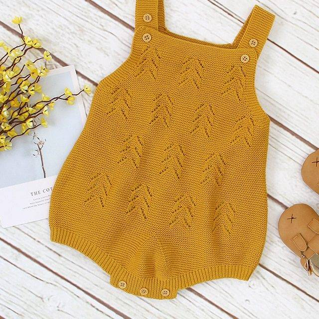 Newborn Bodysuits Baby Clothes Fashion Candy Color Knitted Infant Boys Girls Body Tops Sleeveless Toddler Kids Onesie Tops 0-18M