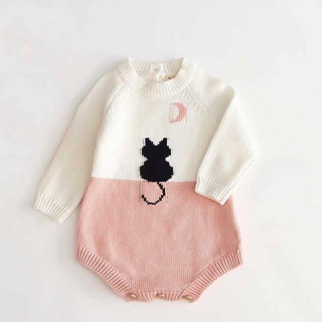 Miau Knitted Romper