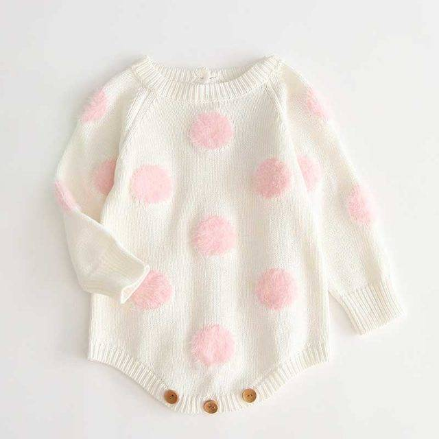 Dots Knitted Romper 2