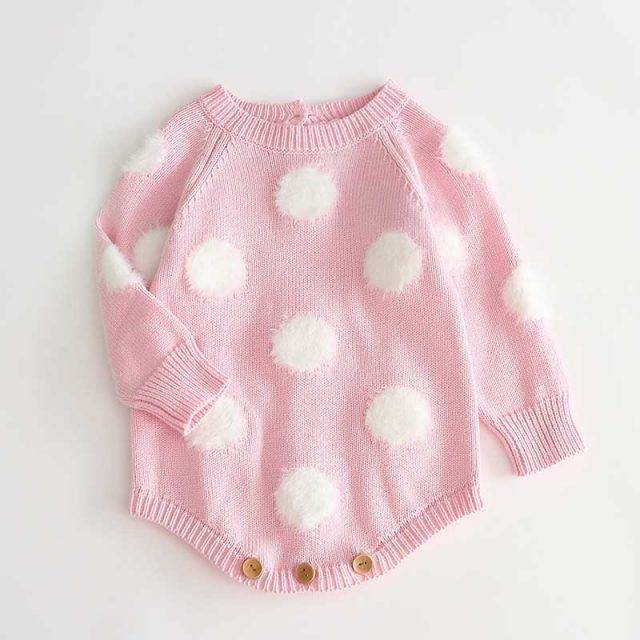 Dots Knitted Romper