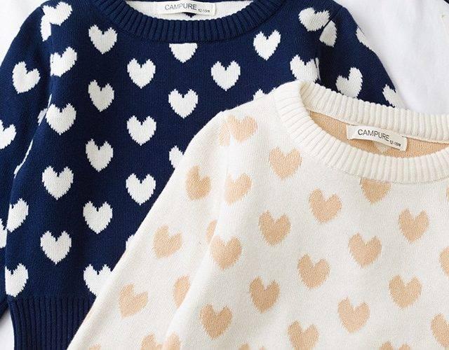 MILANCEL 2019 new kids sweater sweet heart girls knit pullover winter boys sweaters
