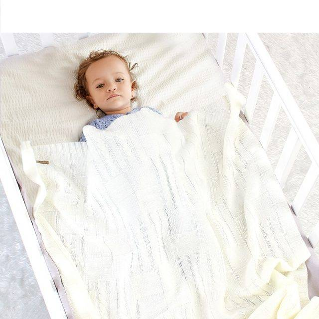 Baby Blankets Knitted Newborn Bebes Stroller Bedding Sleep Cover 100*80cm Solid Infant Swaddle Wrap Blanket Quilt Multi-Function
