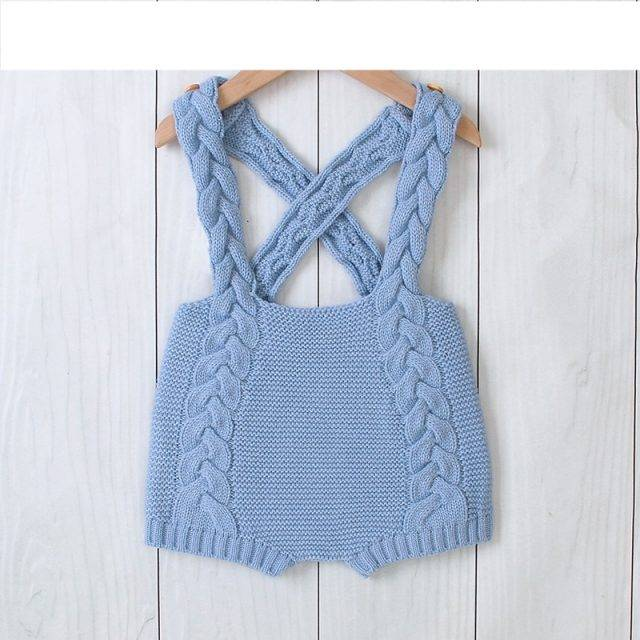 Baby Bodysuits Fashion Candy Color Newborn Bebes Body Tops Autumn Knitted Infant Kids Suspender Jumpsuits Outfits 0-18M Boy Girl