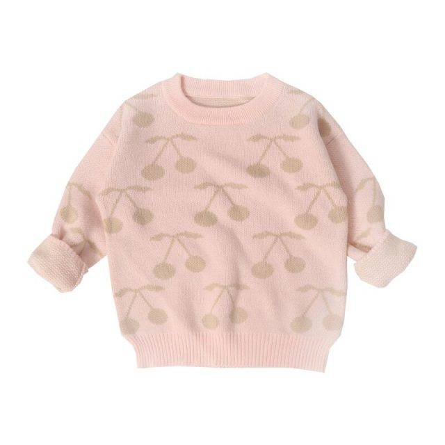 Knitted Cherry Sweater